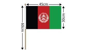 "Afghanistan Large Hand Flag (18"" x 12"") - 12 PACK"