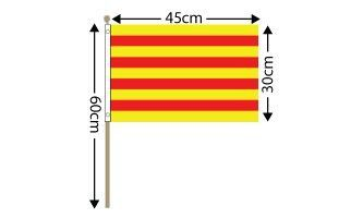 "Catalonia Large Hand Flag (18"" x 12"") - 12 PACK"