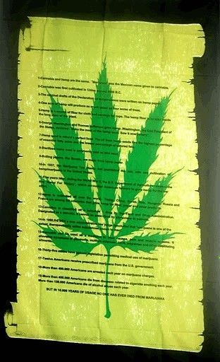 Marijuana Declaration Scroll 5ft x 3ft Flag