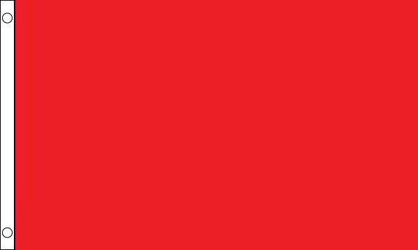 HEAVY DUTY Plain Heavy Duty Red 5ft x 3ft Flag FREE UK Delivery!