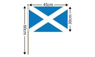 "Scotland Large Hand Flag (18"" x 12"") - 12 PACK"