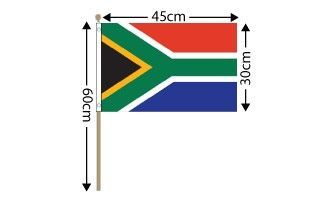 "South Africa Large Hand Flag (18"" x 12"") - 12 PACK"
