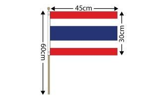 "Thailand Large Hand Flag (18"" x 12"") - 12 PACK"